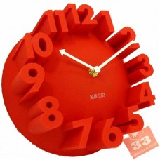 Meidi Clock 3D Red
