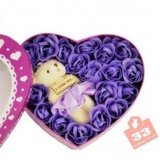 Сердце Мишка Violet