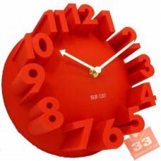 Meidi Clock 3D Red