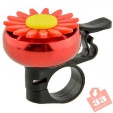 Велозвонок Цветок Red