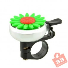 Велозвонок Цветок Green